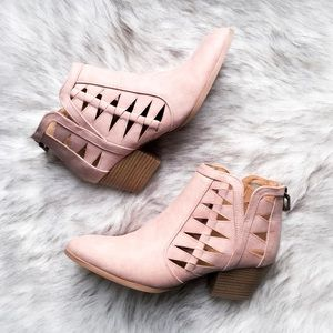 the cutout oil finish bootie